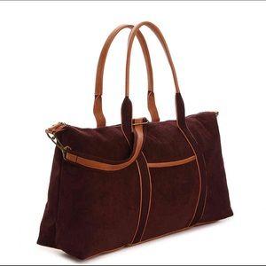 DSW Burgundy Corduroy Travel Bag